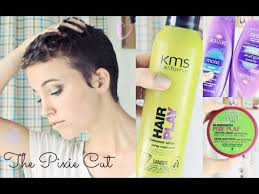 hair products for pixie cut how i style the pixie cut hair growth update youtube
