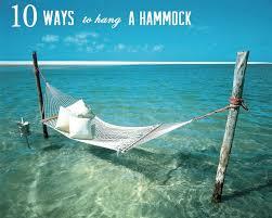10 ways to hang a hammock
