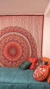 Tapestry On Bedroom Wall Bedroom Tapestry Wall Hangings With String Lights Decorative