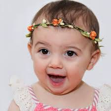 headband flowers orange baby crown baby headband flowers crown flower headband