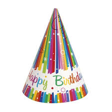 party hats rainbow birthday party hat 8 per pack from ocado