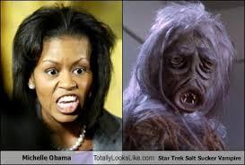 Michelle Obama Meme - michelle obama totally looks like star trek salt sucker vire