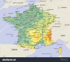 Political Map Of France by Political Map France Roads Stock Vector 380840440 Shutterstock