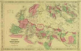 Roman World Map by Roman Empire Map 1868