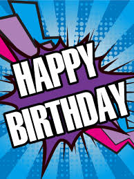 boom happy birthday card birthday u0026 greeting cards by davia