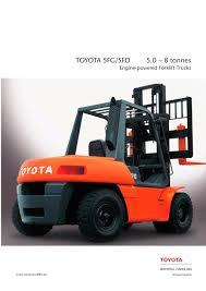 toyota 5fg 5fd toyota material handling pdf catalogue