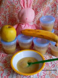 cuisine de bébé compote pomme banane pour bébé à partir de 4 6 mois t96