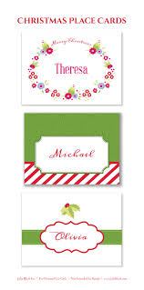 printable christmas party invitations here are three free printable christmas place cards for your