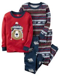 s infant toddler boys 2 pairs pajamas fair isle