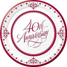 40th anniversary plates 17 best 40 years ruby wedding anniversary images on