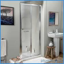 glass shower bi fold door 760mm plumbworkz