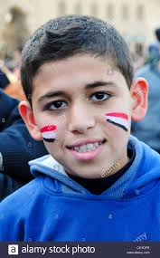 Cairo Flag Boy Cairo Egypt With Flag Painted On Face Tahrir Square Cairo