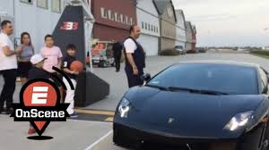 lamborghini shoes lamelo ball arrives to 16th birthday party in lambo onscene