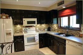 kitchen cabinets stain painted white with chocolate glaze