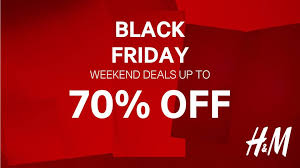 h m black friday weekend sale save up to 70 for limited