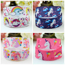 grosgrain ribbons 7 8 kawaii unicorn ribbon for diy hairbow headwear printed