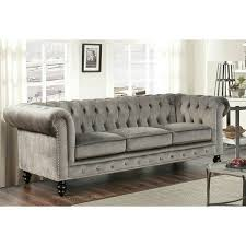 Velvet Sofa For Sale by 1 485 49 On Overstock Com Abbyson Living Grand Velvet Grey Sofa
