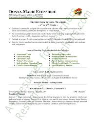 How To Write A Teacher Resume Impressive Design Examples Of Resumes For Teachers Neoteric