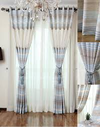 room darkening print cotton baby blue window curtains pictures
