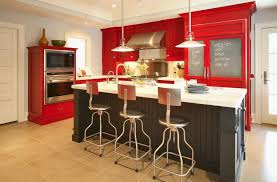 kitchen red wood stain cabinets in small kitchen colorful ideas