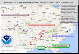 Map Of Alabama And Tennessee by Tornadoes Annual 2014 State Of The Climate National Centers