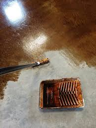 staining and finishing concrete floors ana white woodworking