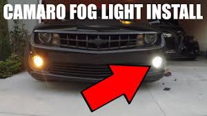 Camaro Fog Lights Camaro Fog Light Install Youtube