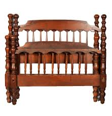 Twin Size Bed Frames Vintage Cannonball Style Twin Size Bed Frames Ebth
