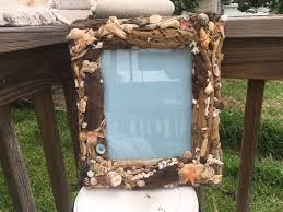 driftwood home decor coastal home decor driftwood and sea shell picture frame loving