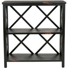 2 Shelf Black Bookcase Linon Home Decor Austin Black And Ash Open Bookcase 862255ash01u