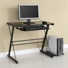 Metal And Glass Computer Desk Brilliant Metal Computer Desk Alluring Office Design Inspiration
