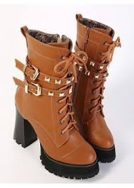 womens boots india boots shoes rivet decorate lace up high heeled ankle boots