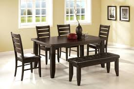 kitchen table sets with bench coaster 5pc dining table chairs bench set cappuccino big small room