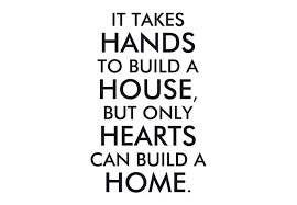 it takes to build a house inspirational wall quote decor