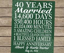 40th wedding anniversary gift ideas 27 best images of ideas for 10th wedding anniversary gift for