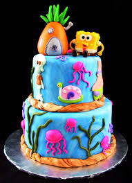 yo gabba gabba birthday cake3d cards spongebob birthday cakes squarepants for kids wow pictures