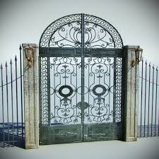 ornamental gate metal fence