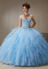quinceanera dresses 89066 embroidery and beading on a ruffled tulle skirt quinceanera