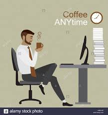 on break sign for desk cartoon businessman office desk sign stock photos cartoon