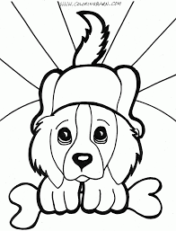 line drawings free puppy coloring pages in painting online