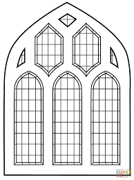 extraordinary cross stained glass window coloring page with