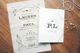 Customized Wedding Invitations Lauren Paul U0027s Rustic Screen Printed Fabric Wedding Invitations