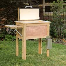 Patio Cooler Table Buy A Handmade Wooden Patio Cooler Made To Order From Mike Made