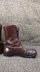 vintage motorcycle boots antique world war 2 jump paratrooper boots sz 13 ww2 ww1 museum