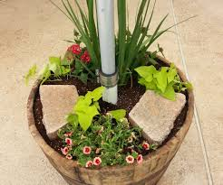 Patio Umbrella Holder by Planter Umbrella Stand 5 Steps With Pictures
