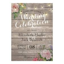 wedding invitations with pictures rustic wedding invitations zazzle