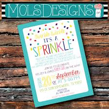 Family Reunion Invitation Cards Version Any Color Baby Sprinkle Invitation Couples Pink