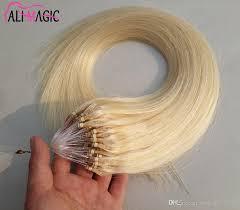 18 Remy Human Hair Extensions by Micro Loops Hair Extensions 18 20 22 Inch Hook Loop Micro Bead