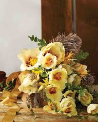 yellow wedding bouquets martha stewart weddings