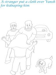 kidnap story printable coloring pages for kids 22